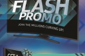 Join the millions curving up with the Samsung Flash promo