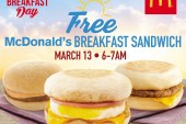 Free McDonald's Breakfast Sandwich on March 13