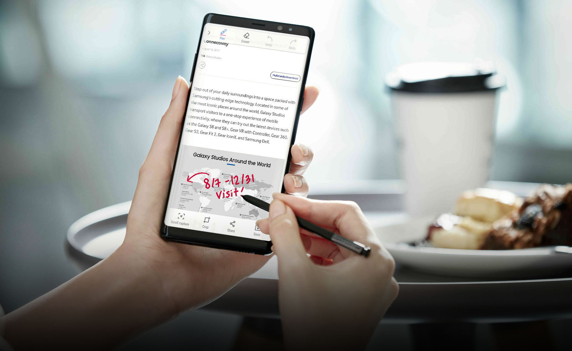 Galaxy Note8's S Pen offers new fun ways to communicate