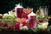 Jollibee new surprisingly delicious treats Strawberry Tea Float and Fries