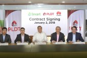 PLDT, Smart signs P1.4-B Huawei deal to transform wireless service delivery
