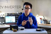 19-year old student Angelino Casimiro builds a DIY power bank for appliances