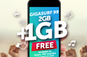 Enjoy freedom to do more with FREE 1GB from Smart, TNT, and Sun