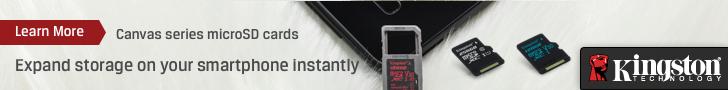 Kingston Canvas Series MicroSD Cards 728x90px