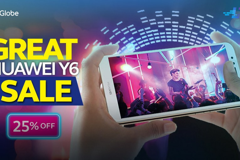 Get a Huawei Y6 LTE Smartphone at 25% Off plus FREE 600MB data for only P4,490 at the Globe Online Shop!