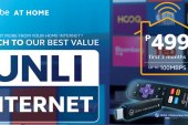 Switch to Globe At Home Go Unli broadband plans with fiber-fast speeds of up to 100Mbps