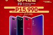 OPPO F9 for P2,000.00 less!