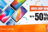Vivo offers 50% discounts at Shopee's Mega Shopping Day Sale