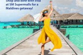 Shop or dine to get a chance to win a Maldives Getaway with SM and Visa!