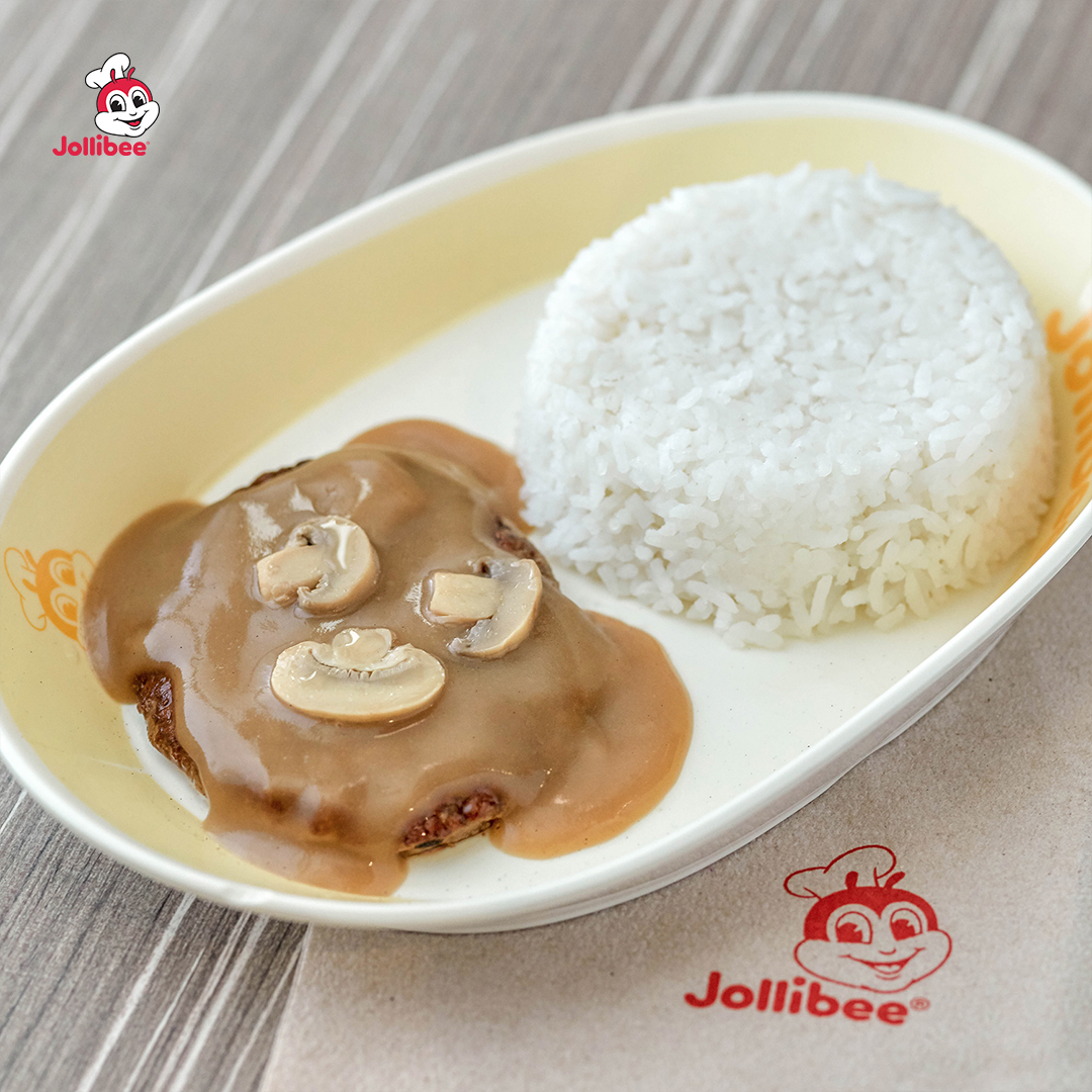 Jollibee Burger Steak's beefy-saucy linamnam ulam, still at P50!
