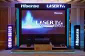 Hisense unveiled its first 100-inch 4K Laser TV display with sound designed by Harman Kardon