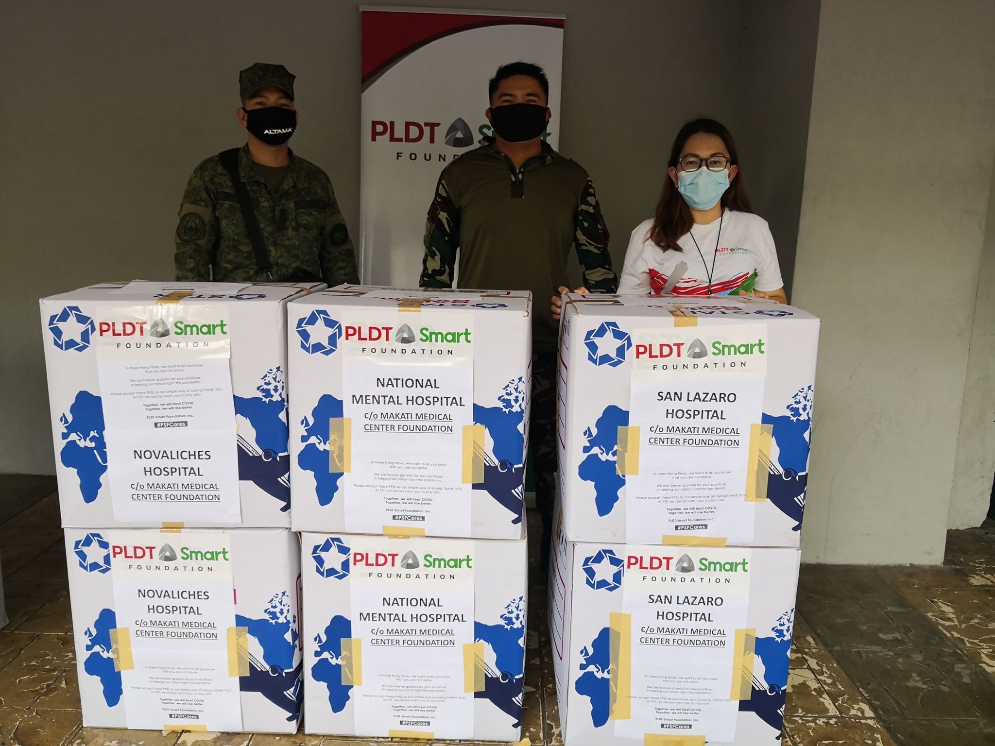 PLDT-Smart Foundation partners with women's group to provide face masks, PPEs to frontliners