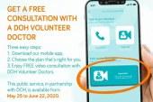 DOH volunteer doctors provide video consultation via KonsultaMD