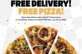 Enjoy free delivery and free pizza from Yellow Cab until end of July