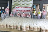M Lhuillier donates sacks of rice to COVID-19 patients isolated in NOAH Complex