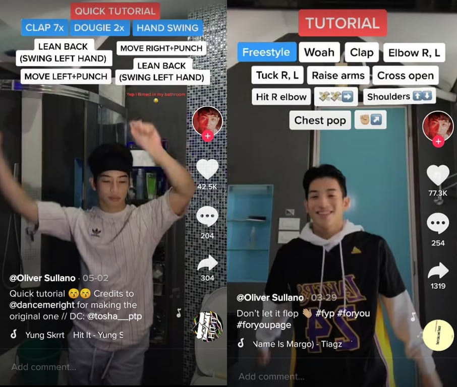 Dance Along to the Hottest TikTok Trends with the Help of Oliver Sullano's Tutorials