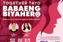 SAFE AND FAIR PHILIPPINES CELEBRATES INTERNATIONAL DAY OF ENDING VIOLENCE AGAINST WOMEN