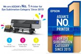 Epson ranks No.1 in textile dye sublimation printer category in ASEAN since 2015