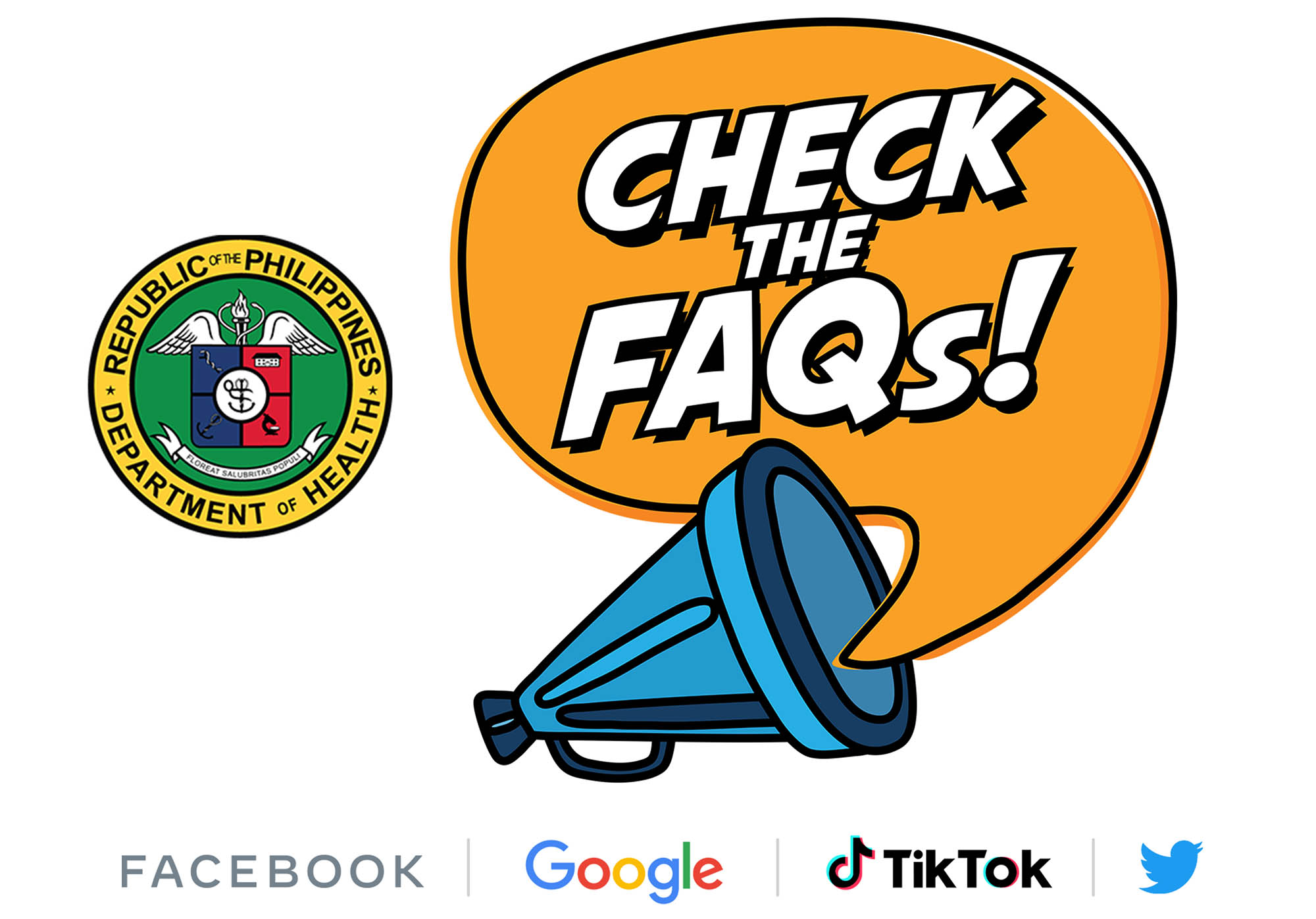 Facebook, Google, TikTok and Twitter support DOH's #ChecktheFAQs campaign to fight vaccine misinformation