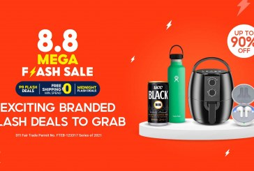 Check Out the Huge Price Drops from Your Favorite Brands at the Shopee 8.8 Mega Flash Sale