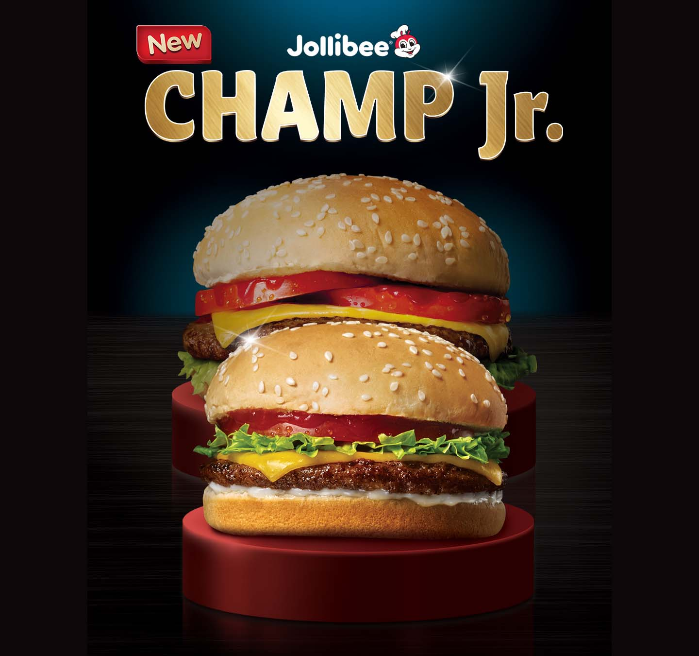 The different flavors of Jollibee Champ now available in more affordable Jr. sizes